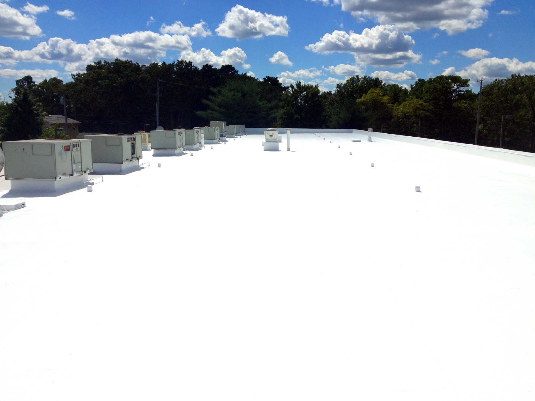 coated roof commercial building